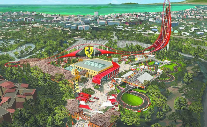 Recreación del Ferrari Land