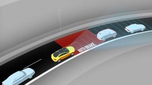El sistema de frenada de emergencia automática reduce accidentes