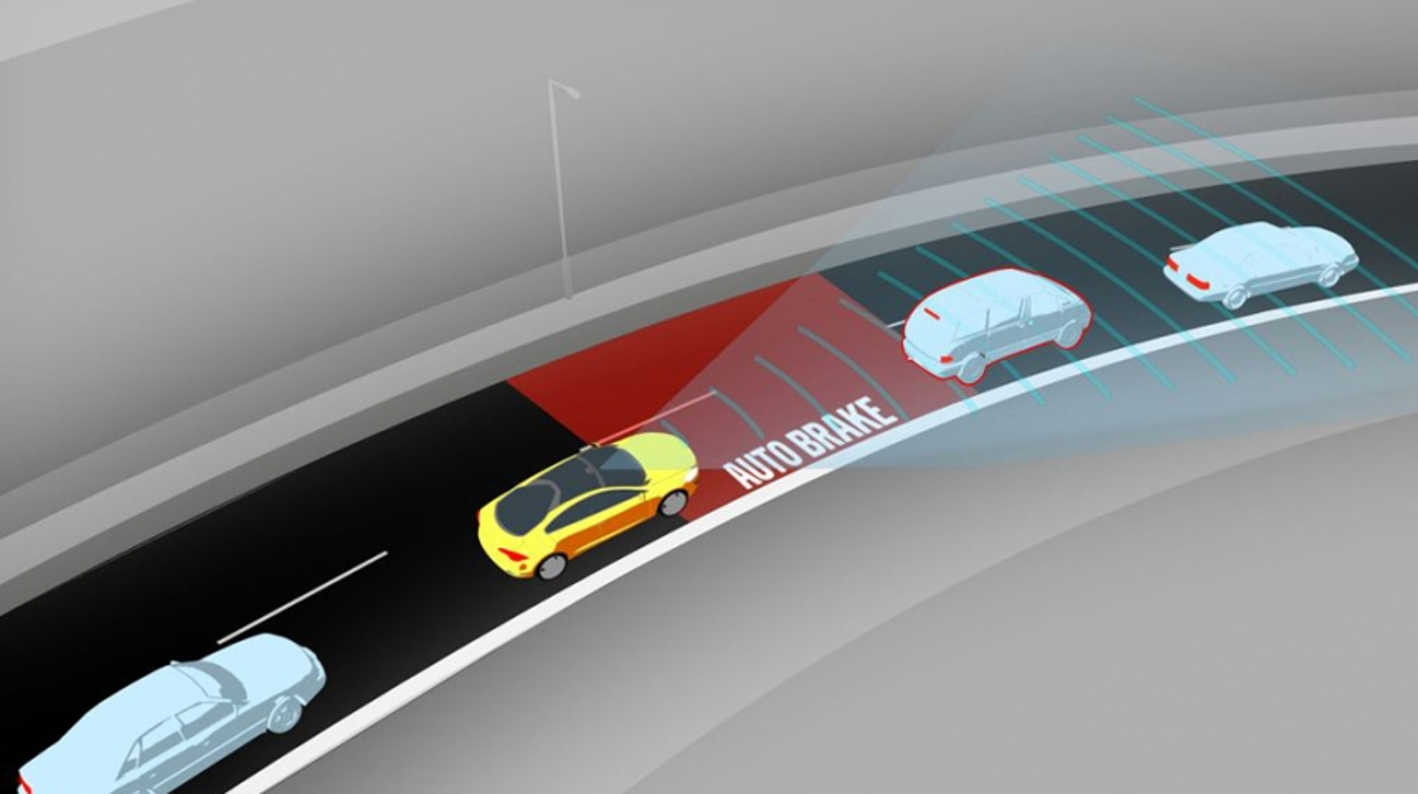 El sistema de frenada de emergencia automática reduce accidentes