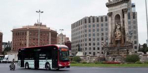 Un autocar eléctrico de Irizar