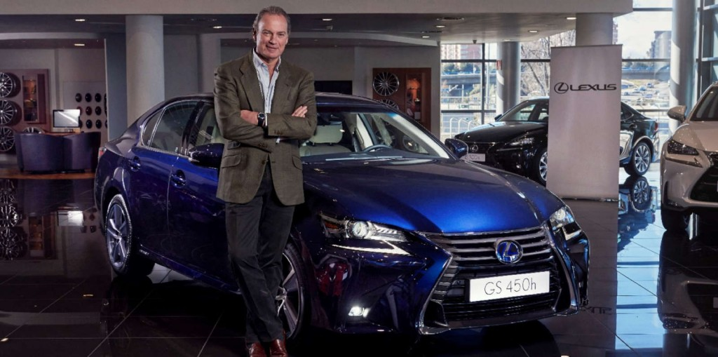 Bertín Osborne y su nuevo Lexus