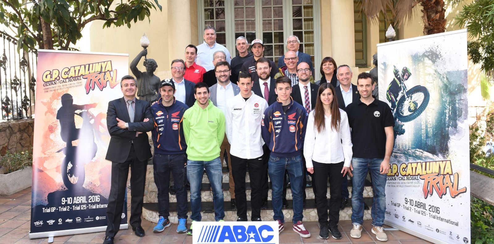 Foto de Família del Gran Premio de Catalunya de Trial (Foto: Moto Club Berguedà)