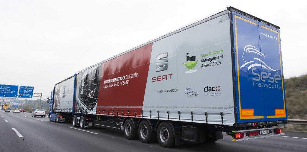 El megatruck ya ha circulado por las carreteras de Catalunya