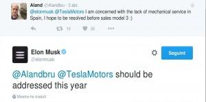 El tuit de Elon Musk CEO de Tesla