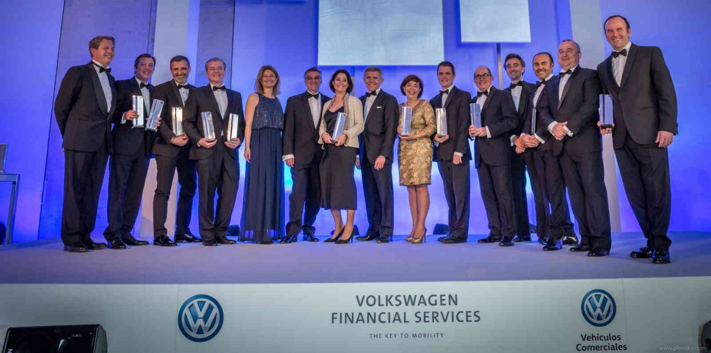 Foto de família de los premios a la excelencia. (Foto: Volkswagen)