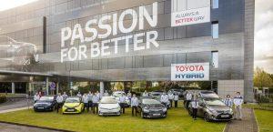 Toyota celebra los 10 millones de coches fabricados en Europa (Foto: Toyota)