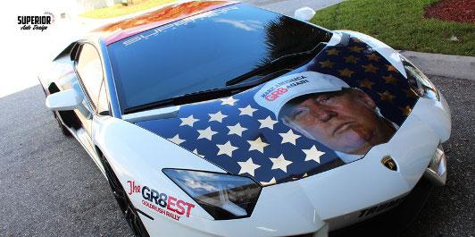 El coche de campaña de Donald Trump