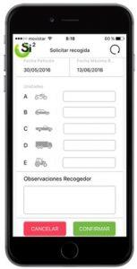 La App de Signus para recoger neumáticos usados