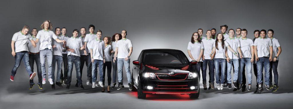 Los estudiantes que participaron en el diseño del Skoda Atero