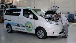 El coche que funciona con bioetanol (Foto: Nissan)