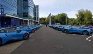 Los BMW de los jugadores del Leicester