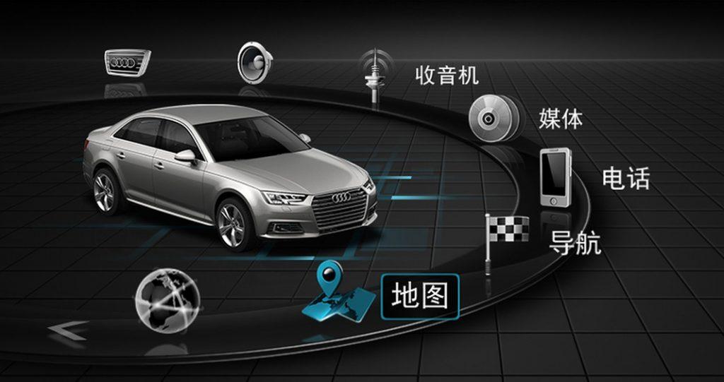 Pantalla del Audi A4 en China (Imagen: Audi)