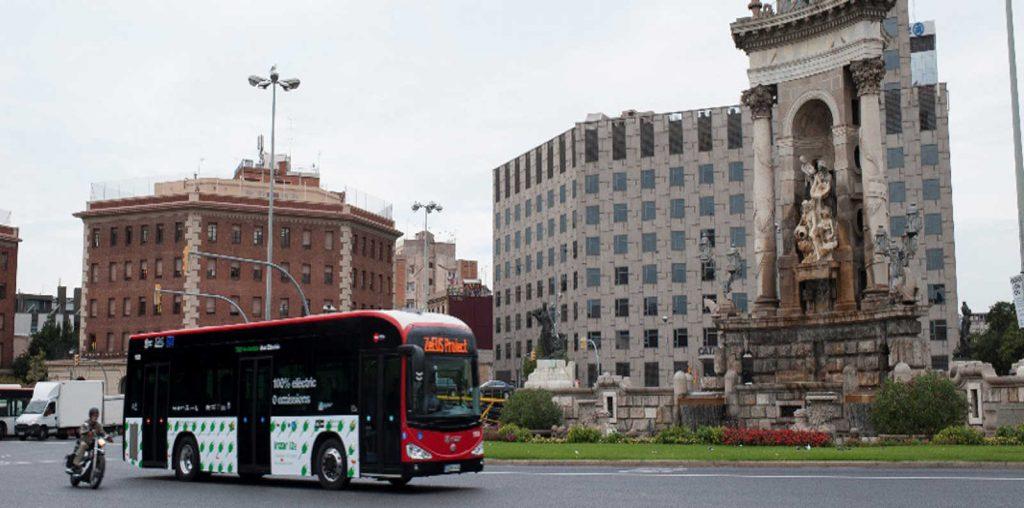 Un autobús urbano de Barcelona