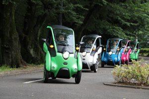 El I-Road a prueba en las carreteras de Japón