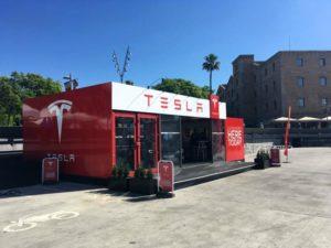 pop-up Store de Tesla en Barcelona (Foto: Tesla)