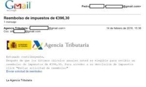 El falso correo electrónico de la DGT