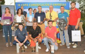 Los ganadores del campeonato de golf