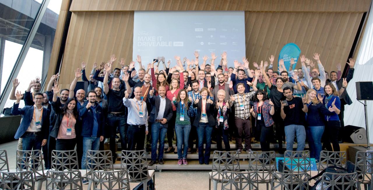 Participantes en el Desafío de Apps de Ford