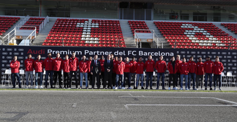 Los jugadores del Barça probaron los nuevos Audi