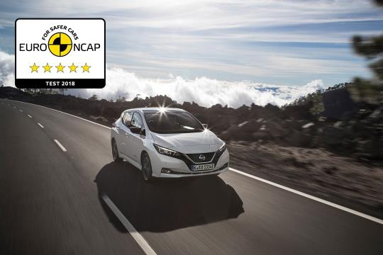 El Leaf reina en los EuroNCAP (Foto: Nissan)