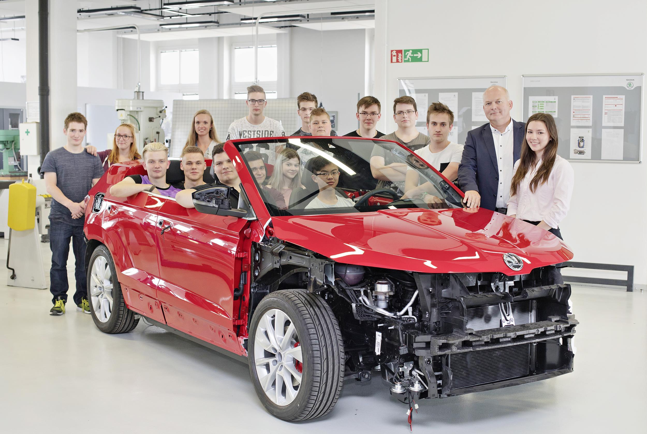Los estudiantes de Skoda han realizado un prototipo que se estrenará en junio (Foto Skoda)