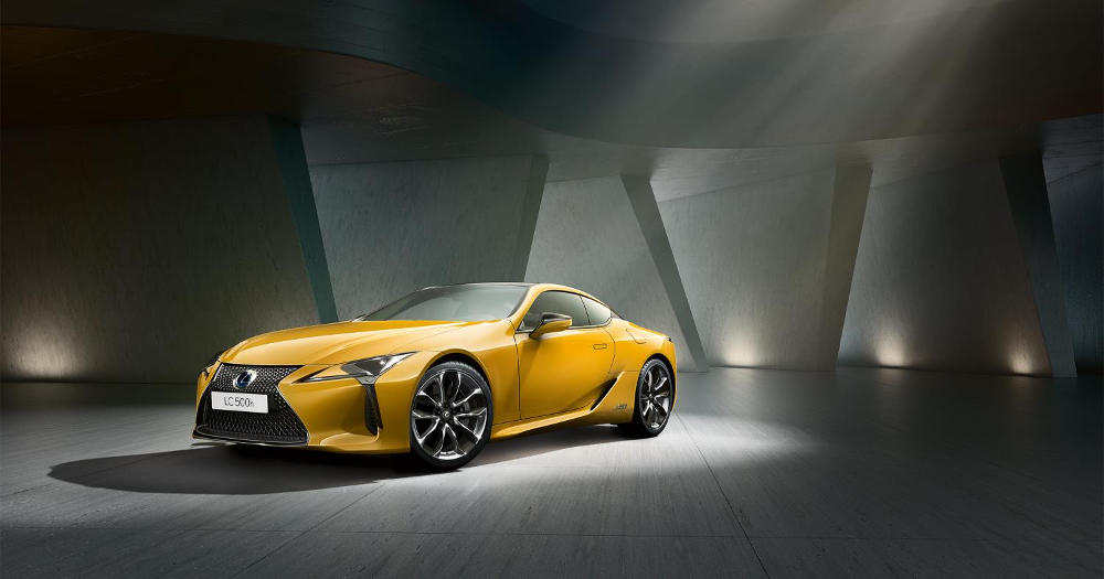 El Lexus LC Yellow Edition