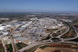 Vista aérea de la planta de Almussafes