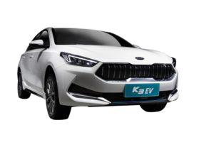 Un coche Kia KX3 blanco