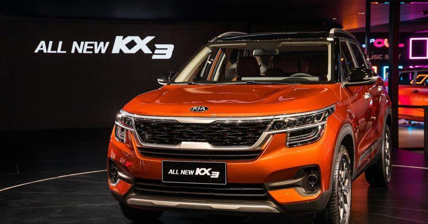 Un coche Kia KX3 presentado en Guanghzou