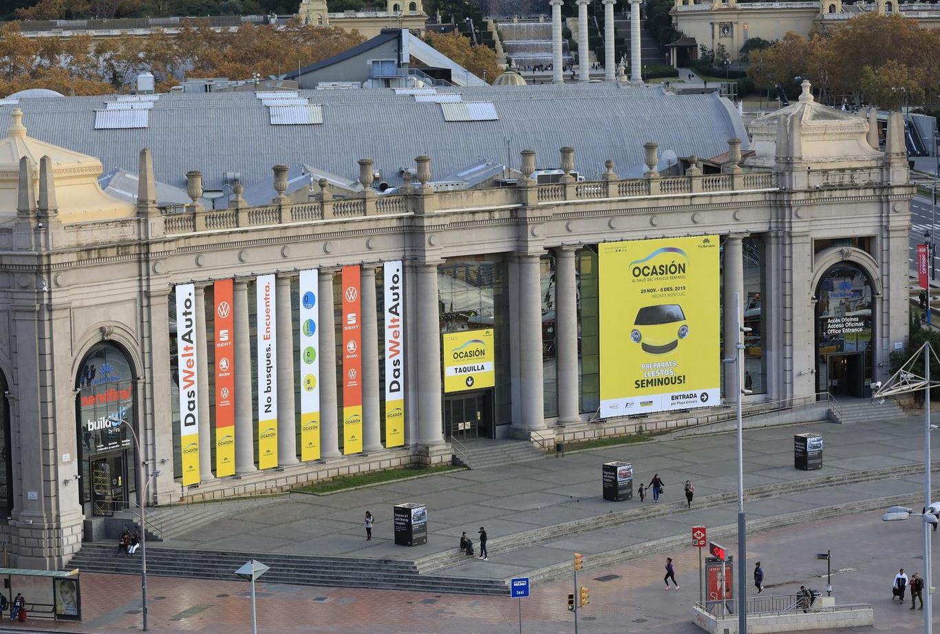 Fachada principal de Fira de Barcelona donde Das Weltauto tiene stand