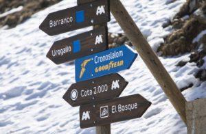 Carteles de las pistas de esquí de Aramón