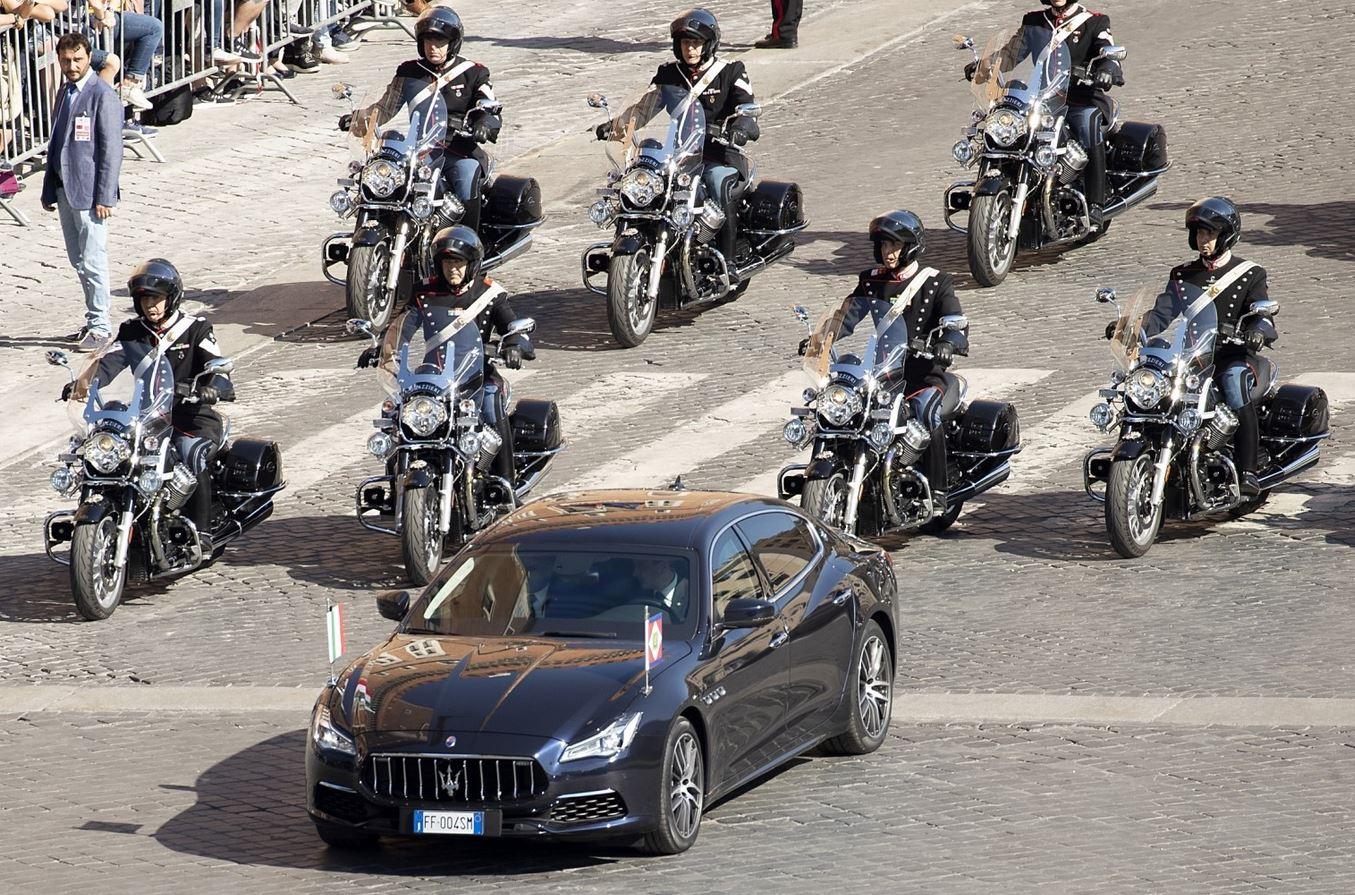 El Maserati Quattoporte que en la actualidad utilizan los presidentes italianos