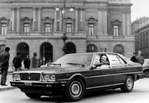 Uno de los primeros Maserati Quattroporte utilizado por los presidentes italianos