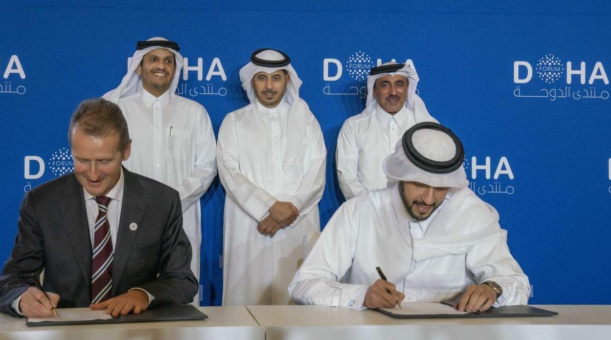 Representantes de Qatar y Volkswagen firman un acuerdo para crear un sistema de transporte 0 emisiones
