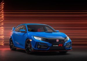 Un Honda Civic Type R de color azul