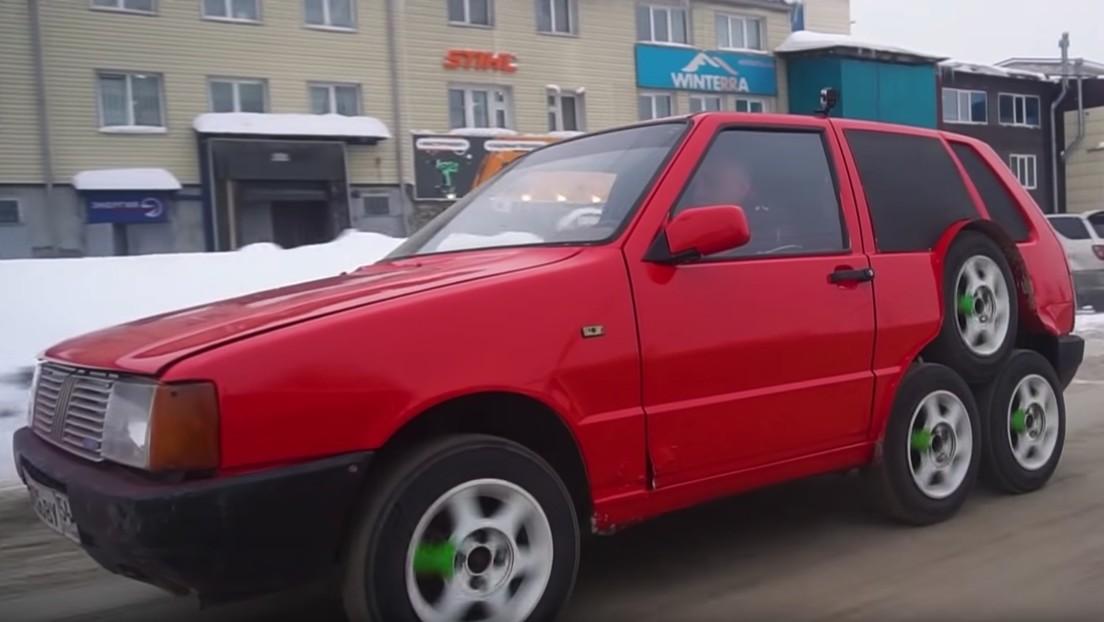El coche viejo que unos mecánicos rusos hicieron tuning
