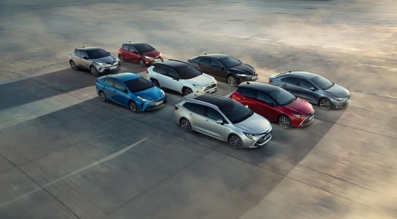 Un grupo de coches de la gama Toyota y Lexus que han alcanzado buenas cifras de ventas en 2019