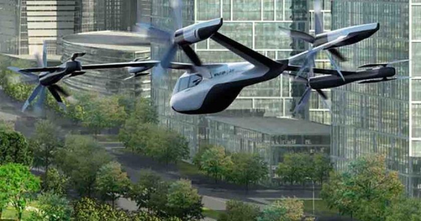 Recreación virtual de uno de los taxis aéreos de Hyundai y Uber