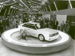 El Audi Quattro cuando se presentó en el Salón de Ginebra hace 40 años