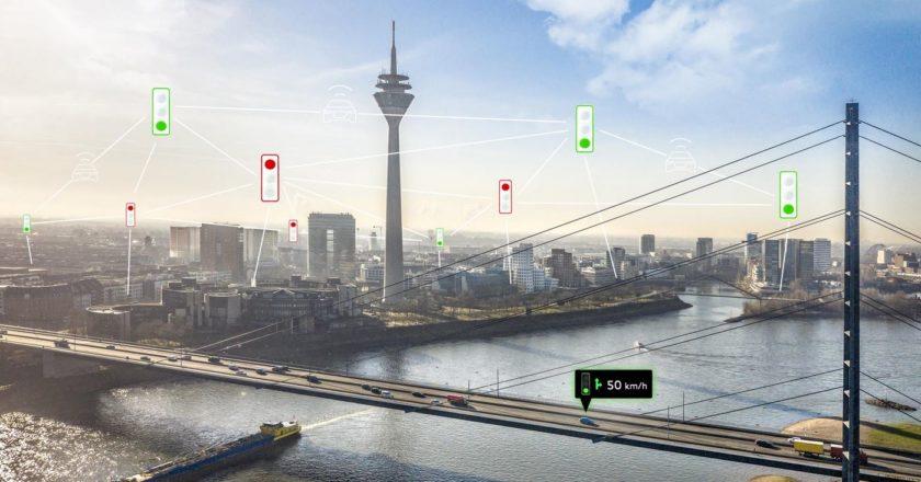 Audi prueba un sistema de semáforos inteligentes