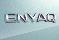 El logotipo del Skoda Enyaq