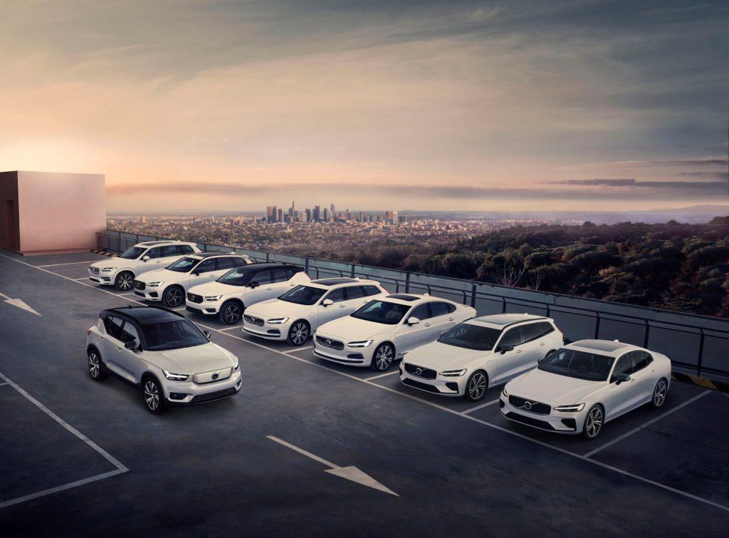 Varios vehículos de la gama Volvo, empresa que ha renovado su dirección ejecutiva.