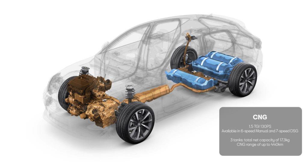 Un gráfico de las propulsiones del Modelo Seat León