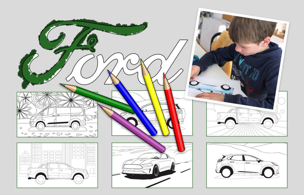 Pinta y colorea de Ford en la página web para pasar mejor la cuarentena