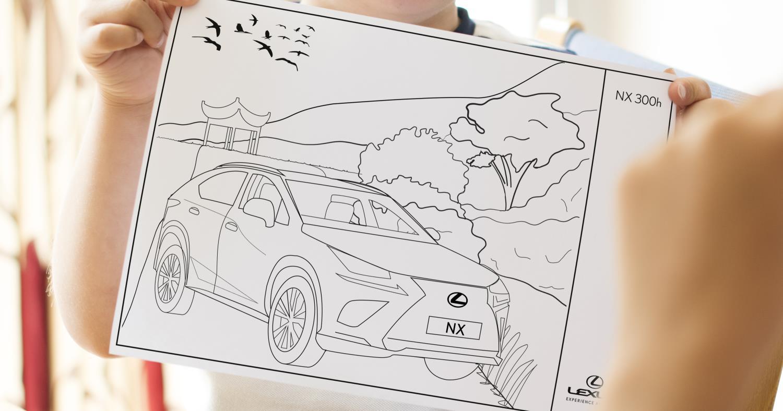 Uno de los dibujos del Centre de Entretenimiento de Lexus