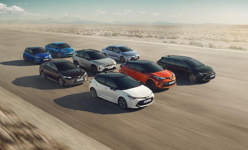 Gama de coches Toyota todos con su 'naming'